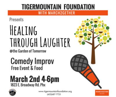 Healing Through Laughter event at the Garden Tomorrow | TigerMountain Foundation